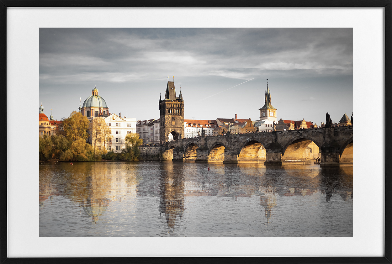 Charles Bridge - black frame