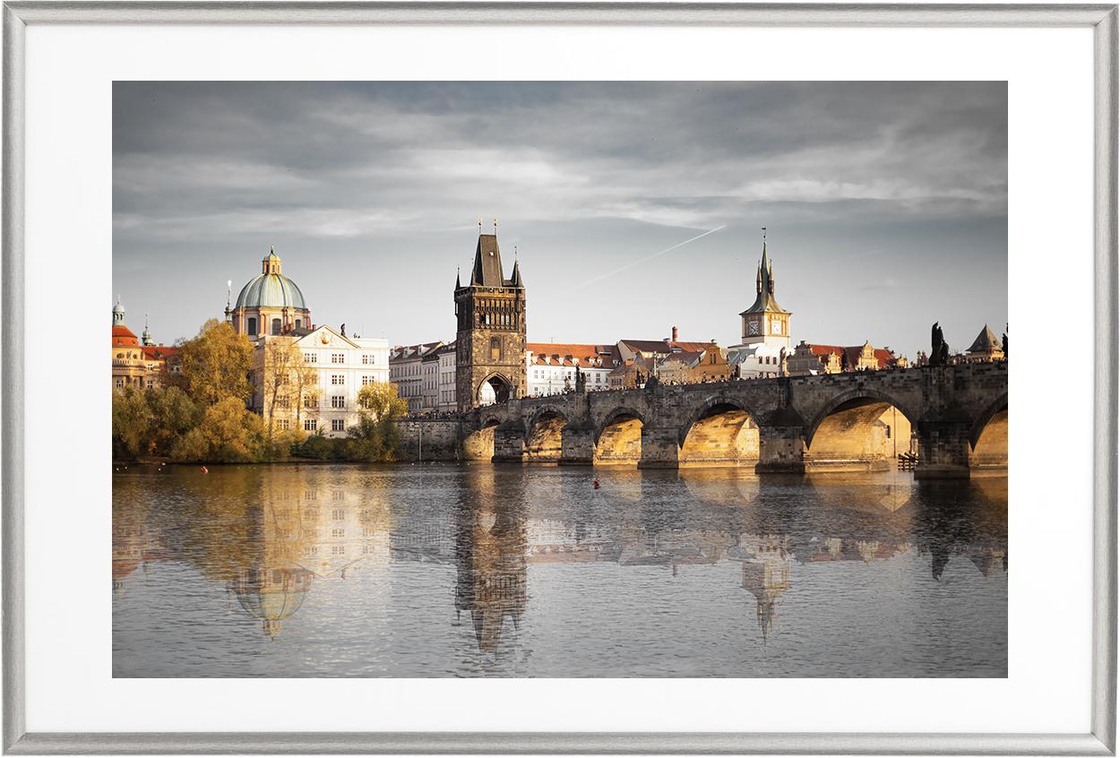Charles Bridge - silver frame