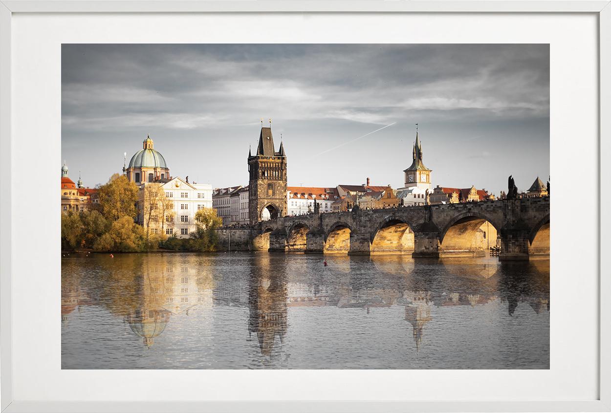 Charles Bridge - white frame