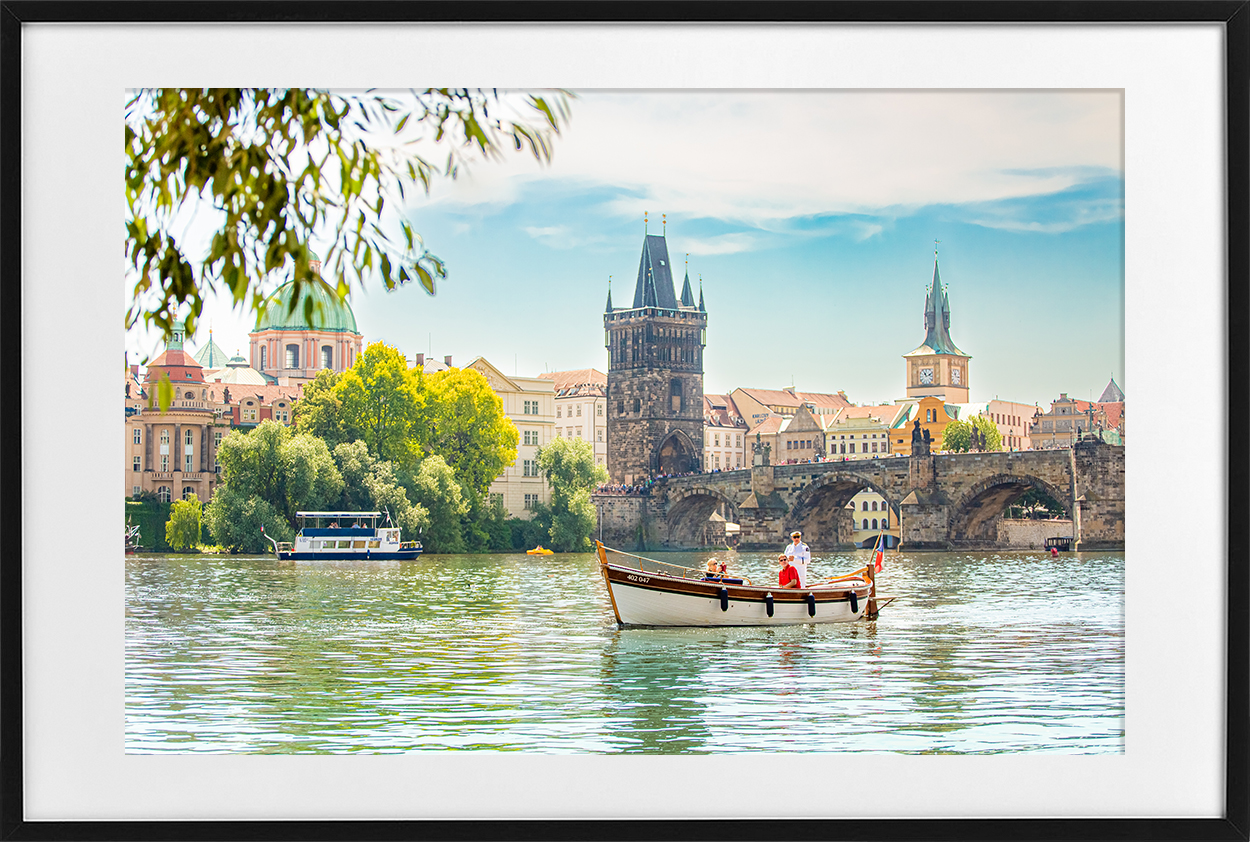 Charles Bridge - black frame