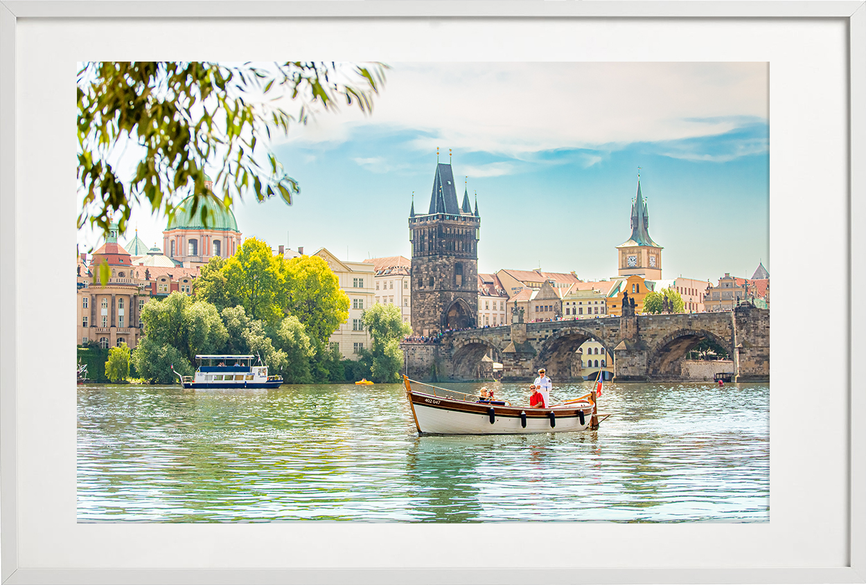 Charles Bridge - white frame